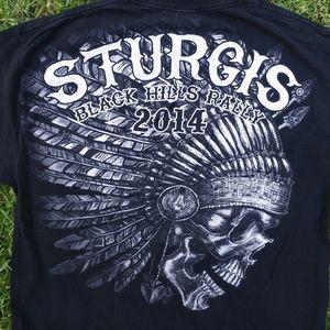 Sturgis 2014 Black Hills Bike Rally T-Shirt XL